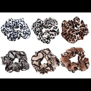 Accessories - Printed Satin Scrunchies 3 for $10